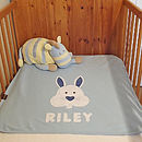 Personalised Bertie Bunny Blanket (blue)