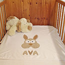 Personalised Bertie Bunny Blanket (white)