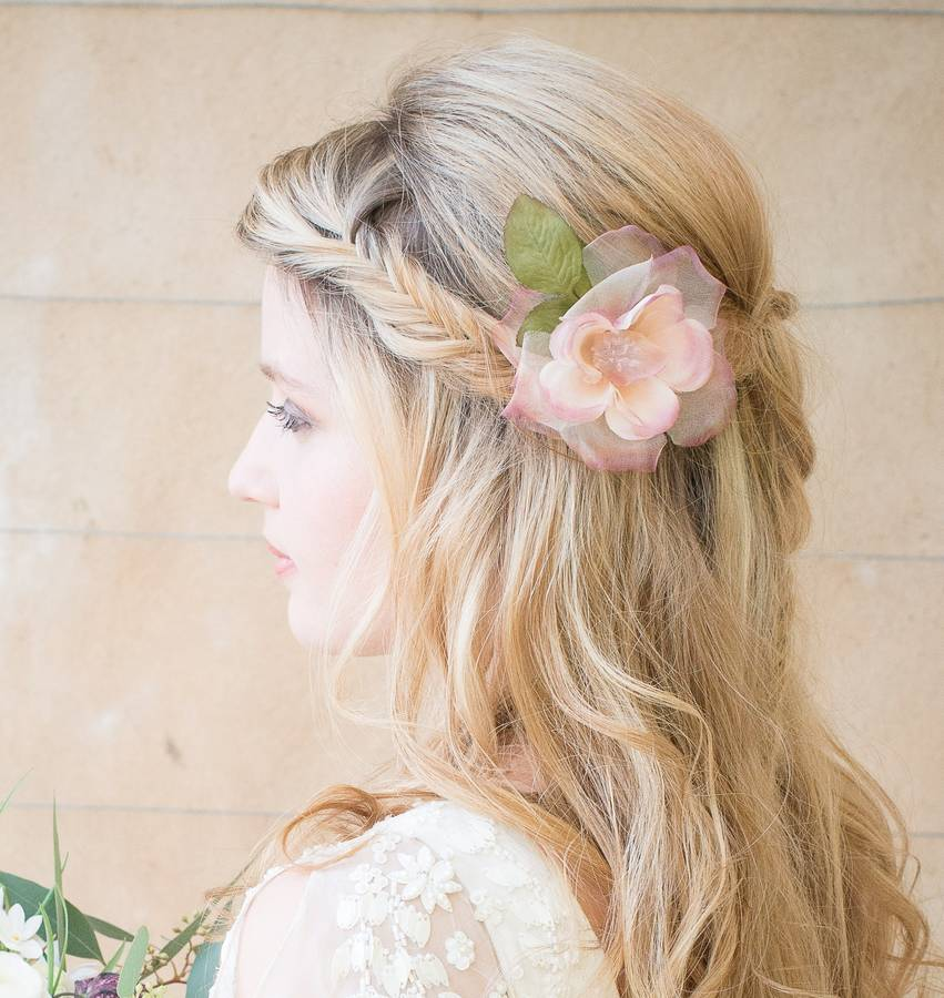 Frances pink silk hair flower by chez bec notonthehighstreet frances pink silk hair flower mightylinksfo