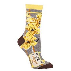 'Kick This Day In Its Sunshiny Ass' Socks - women's fashion