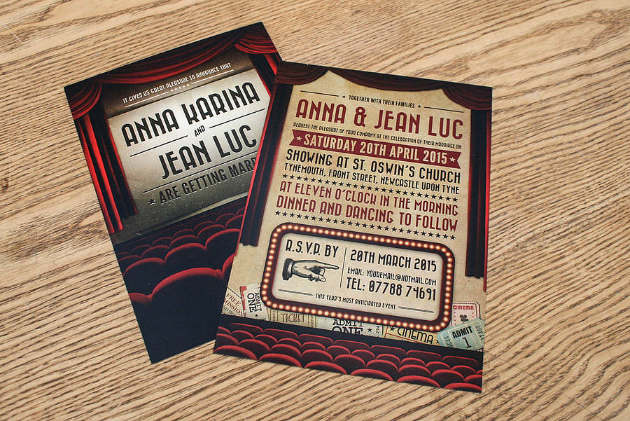 Movie Themed Wedding Invitation By Magik Moments