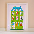 Personalised Musical House Nursery Print