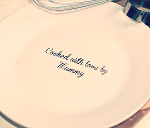 'Cooked With Love By..' Plate