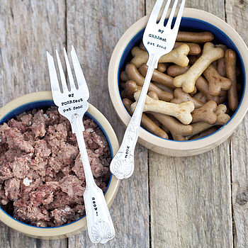Personalised Vintage Pet Food Fork