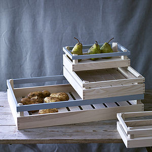 Madly Wooden Storage Crate - boxes, trunks & crates