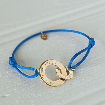 Mother's Personalised Intertwined Bracelet