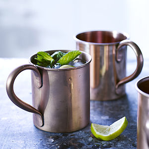 Moscow Mule Copper Mug - dining room