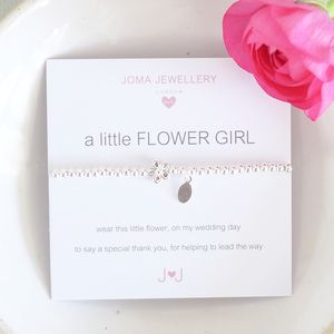 Flower Girl 'Thank You' Bracelet - for children