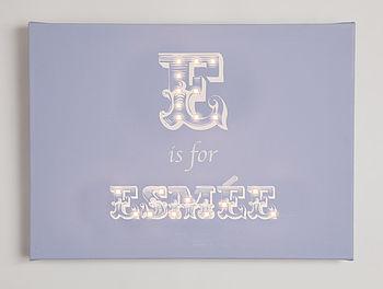 French Alphabet Illuminated Canvas