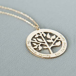 Mother's Personalised Tree Of Life Necklace - into the woods