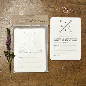 Love Arrows Wedding Invitations - wedding stationery