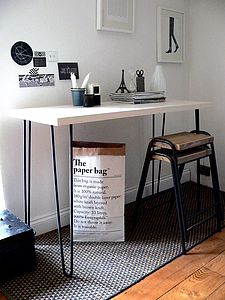 Hairpin Leg Console Table - furniture