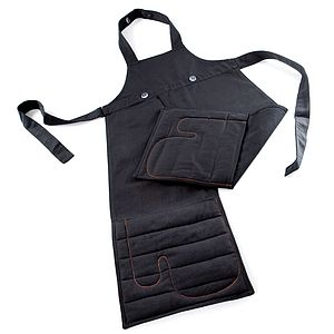 Apron With Oven Gloves