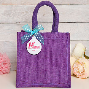 Mum Personalised Jute Bag, Mothers Day