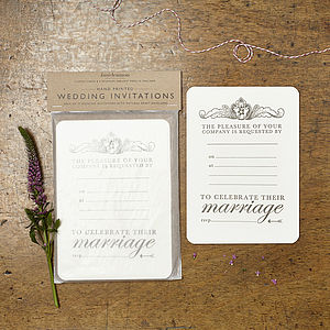 Regal Wedding Invitation - wedding stationery