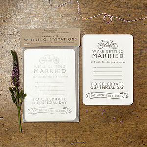Tandem Wedding Invitations - invitations