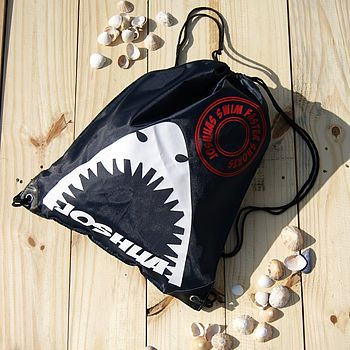 Personalised Shark Bag Blue Black