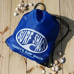 Personalised 'Surf Shack' Swimming Bag - bags, purses & wallets