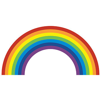 rainbow wall sticker by spin collective