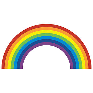 Rainbow Wall Sticker - wall stickers