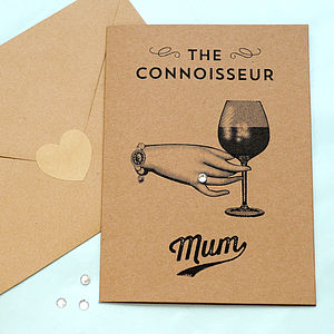 'The Connoisseur Mum' Mother's Day Card With Diamante