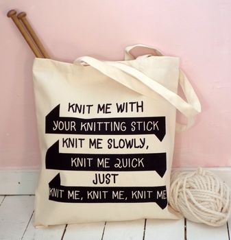 'Knit Me Knit Me' Knitting Bag