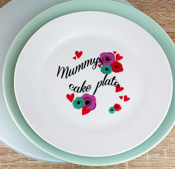 Personalised Flower And Heart Plate