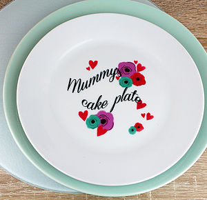 Personalised Flower And Heart Plate - tableware