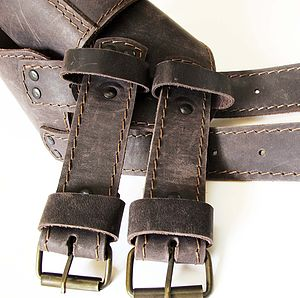 Handmade Double Leather Belt - womens