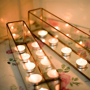 Mirrored T Light Box - votives & tea light holders
