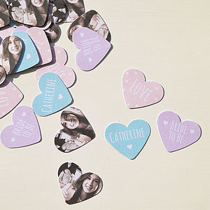 Personalised Photo 'Bride To Be' Party Table Confetti - personalised