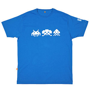 Retro Arcade Invaders T Shirt - gifts for geeks