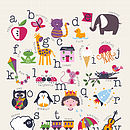 Children's Alphabet Print - unpersonalised option