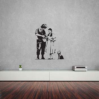 Banksy Wizard Of Oz Stop And Search Wall Art