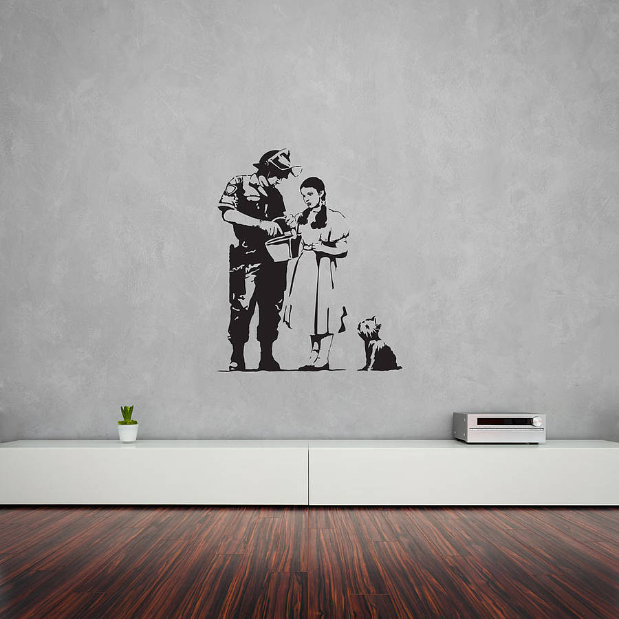 Banksy Wizard Of Oz Stop And Search Wall Art By Vinyl Revolution & Wizard Of Oz Wall Decals - Wall Designs
