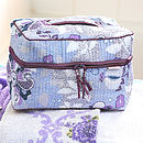 Vanity Wash Bag In Spring Print