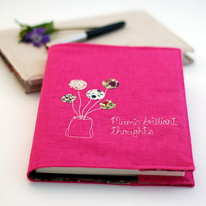 Personalised Floral Notebook - writing & drawing