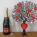 Personalised Freestanding Wooden Family Tree