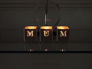 Mum Tealight Candle Holder Set - candles & candlesticks