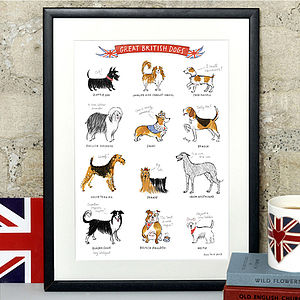 Alice Tait 'Great British Dogs' Print - pet-lover