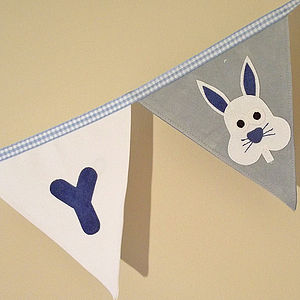 Personalised Baby Bunny Bunting - children's decorative accessories