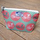 Bicycle Spot Cosmetic Toiletry Wash Bag