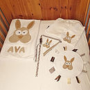 Contents of the Bernie Bunny Baby Hamper