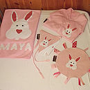 Contents of the Bessie Bunny Baby Hamper