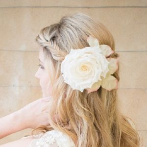 Clementine 100% Silk Hair Flower - wedding jewellery