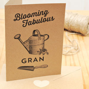 Gran 'Blooming Fabulous' Personalised Card - cards for grandmothers