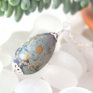 Lampwork Glass Egg Necklaces