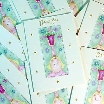 Pack of Ten Thank You Cards