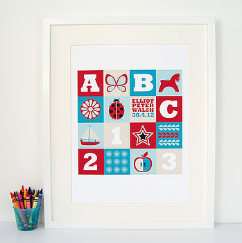 Personalised Children's Squares Print