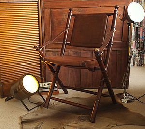 Colonial Cowhide Leather And Teak Study Chair - dining chairs